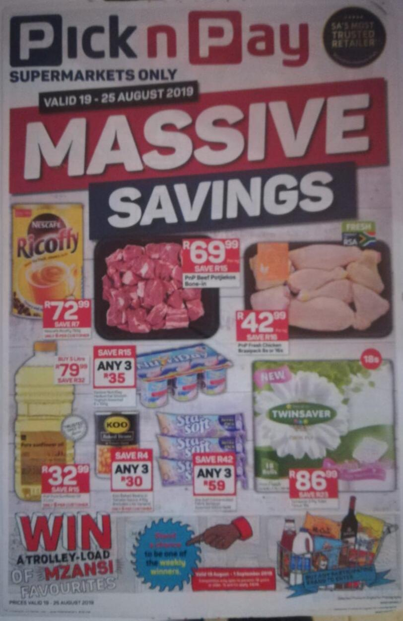 Massive Specials Pick 'n Pay